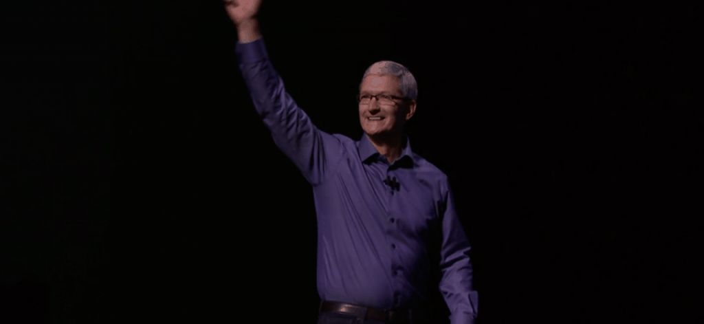 Tim Cook at Keynote Event