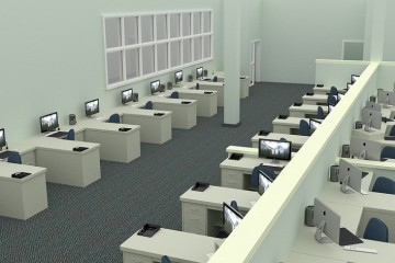 open-plan office