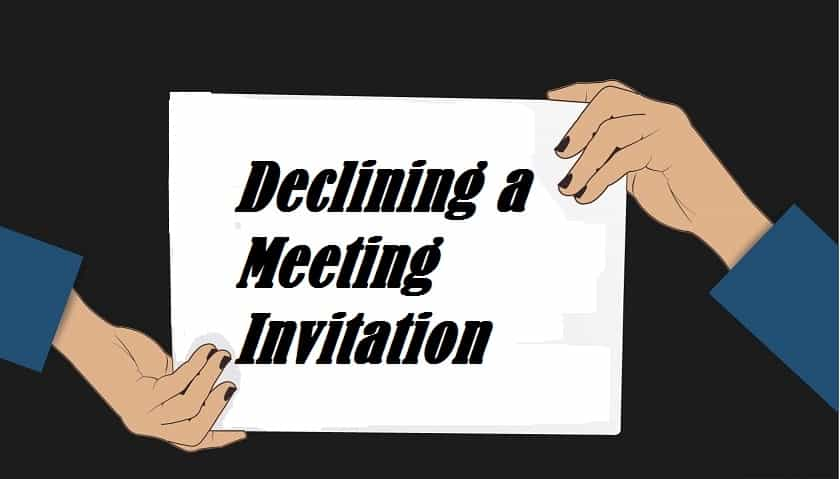 declining a meeting invitation