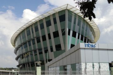 infosys plans to hire 10000 us workers as a part of infosys local hiring move -Thiruvananthapuram Infosys Building