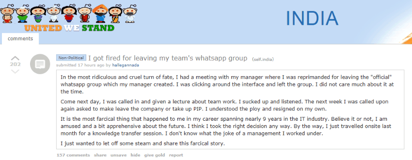 Leaving A WhatsApp Group Get Fired