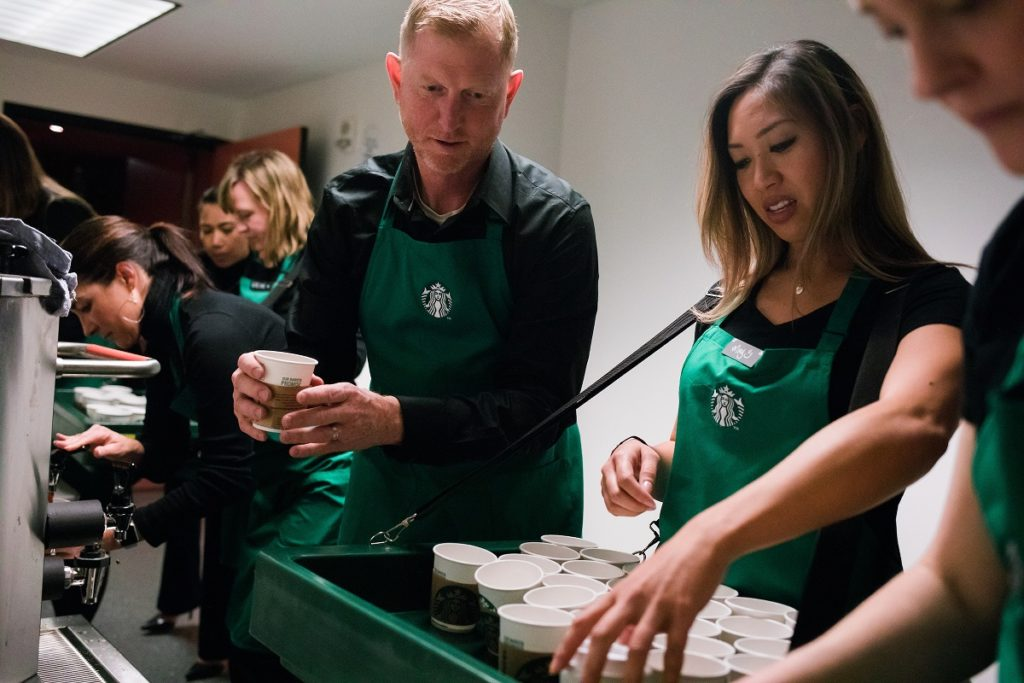 Starbucks race training