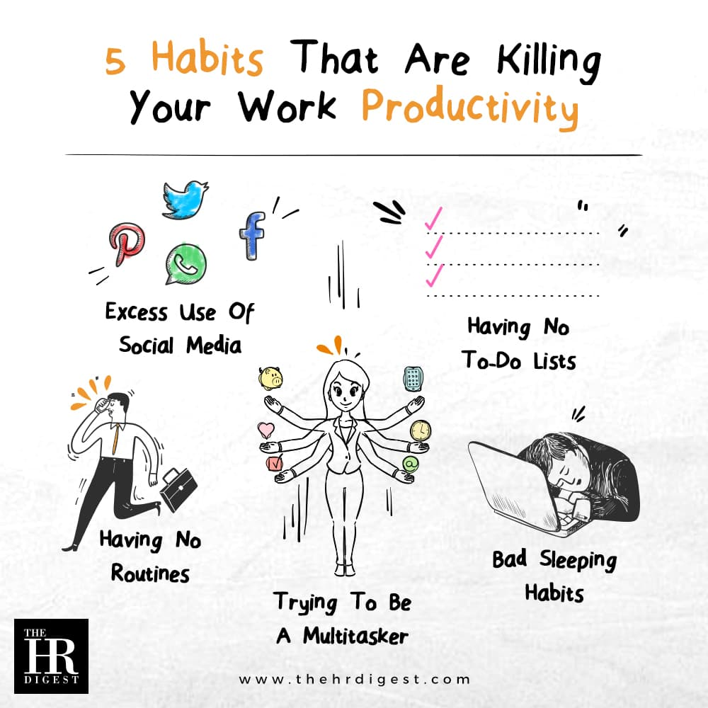 5 Habits That Are Killing Your Work Productivity