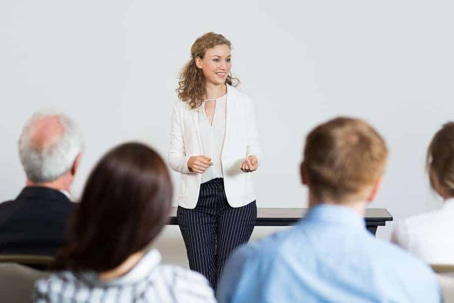 public speaking tips for presentation at work