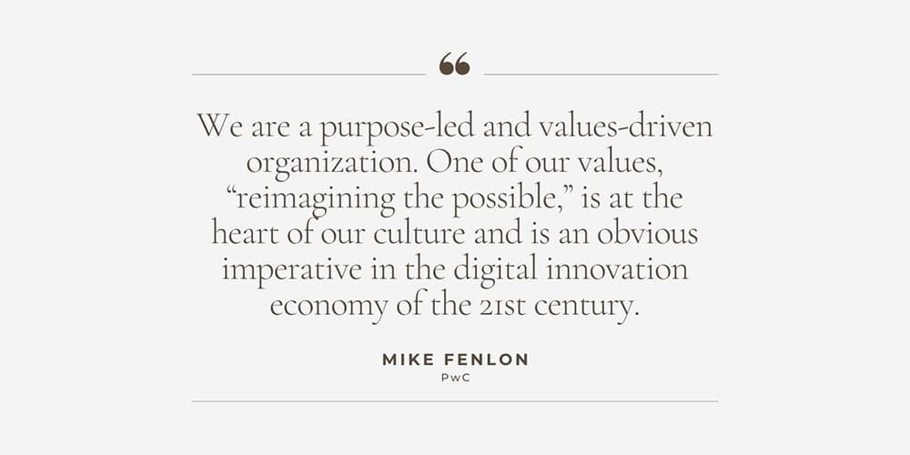 Mike Fenlon PwC Quote
