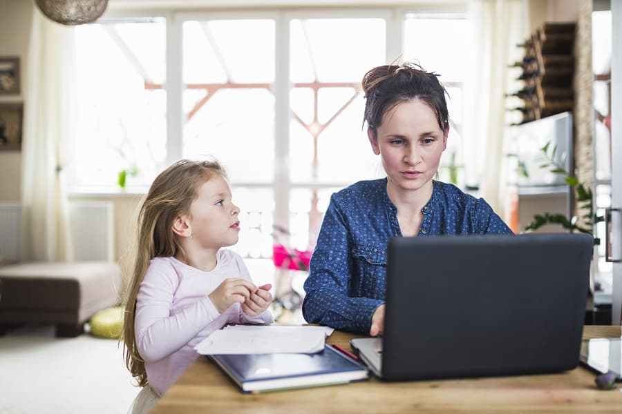 work from home tips for parents